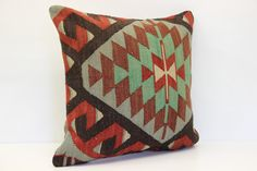 Decorative Kilim pillow cover 20x20 inches Turkish pillows kilim pillow Pastel Pillow Handmade Cushion covers Natural pillow cover L-611
