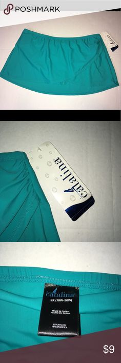 Catalina 2x swim skort skirt brand new Catalina 2x swim skort skirt brand new Brand new with tags Bathing suit bottom with built in skirt wrap catalina Swim