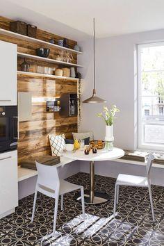 SMART 4041 - Ballerina-Küchen: Find your dream kitchen Dining Nook, Round Dining Table, Small Appartment, Kitchen Decor Themes, Home Decor, Laundry Decor, Minimalist Room, Kitchen Nook, Küchen Design