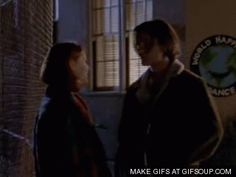 """Sexy GIF of Jared Leto and Claire Danes as Jordan Catalano and Angela Chase in the episode titled 'Life of Brian' from the ABC Series """"My So-Called Life"""""""