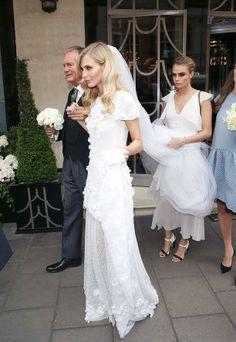Swoon! Poppy Delevingne's gorgeous Chanel Haute Couture wedding dress. // #wedding #bridal #weddingdress