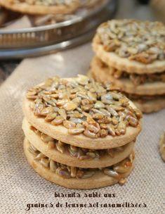 biscuits sables aux graines de tournesol caramelisees