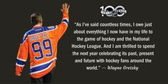 The Great One' Wayne Gretzky has been named NHL Centennial Ambassador for year-long Centennial celebration in 2017.