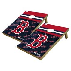 Boston Red Sox Wild Sports Platinum Shield Cornhole Bag Toss Set - 2x3 ft.