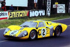 1967 .. Le Mans .. entered by Shelby American Inc. , Ford Mk IV , driven by McLaren / Donohue , finished4th o/a ,