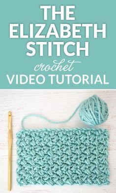 The Elizabeth stitch is absolutely beautiful in my opinion - it's an easy stitch to crochet and once you get going, you'll be able to do it in your sleep. Also known as the mini bean stitch Crochet Stitch of the Month – The Elizabeth Stitch I'm r Crochet Stitches For Beginners, Crochet Stitches Patterns, Crochet Videos, Crochet Basics, Crochet Designs, Stitch Patterns, Tunisian Crochet Stitches, Knitting Stitches, Knitting Patterns