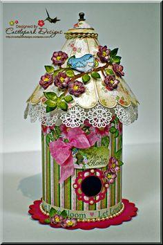 Joann-Larkin-Round-Bird-House, 3D paper project