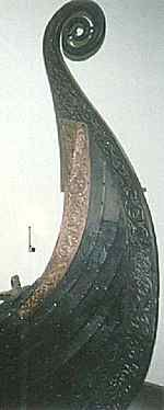 As with other Norse objects, ships were highly decorated. The intricate carving on the stern of the Oseberg ship.  Dragon heads may have decorated the prows (and occasionally, the sterns) of ships.  Early Icelandic laws (as stated in Landnámabók H.268) prohibited ships with dragon head prows from entering harbor, lest the frightening appearance of the ship threaten the tranquility of the landvættir (land spirits).