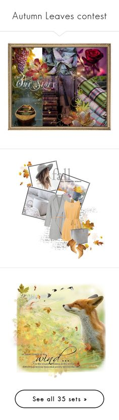 """""""Autumn Leaves contest"""" by magnolialily-prints ❤ liked on Polyvore featuring art, Fall, romance, artset, artexpression, Nicole Miller, Vanessa Bruno, Gap, Qupid and Tressa"""