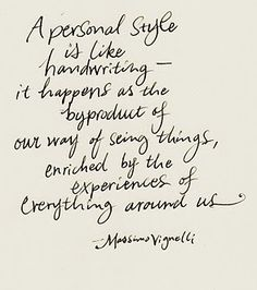 personal style.