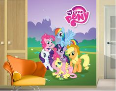 Lovely My Little Pony Wall Mural | ... Flizeliny Fleece Wall Mural My Little Pony Part 21