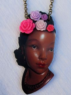 Cute kitsch and retro statement necklace of by nicolacoledesigns