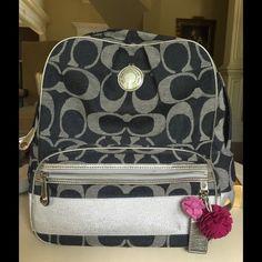 Preloved Coach backpack. Preloved Coach backpack....measures 14 x 11.5 x 6.5. Coach Bags Backpacks