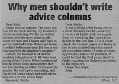 Warum Männer schlechte Ratgeber sind - Fun Bild | Webfail - Fail Bilder und Fail Videos