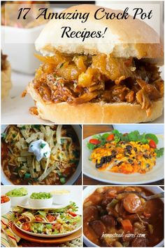 Simplify Dinner With 17 Amazing Crock Pot Recipes!  No more panic as the dinner hour rolls around, just a few minutes of prep in the morning when the house is calm helps you have a healthy and stress free supper. | www.homestead-acres.com