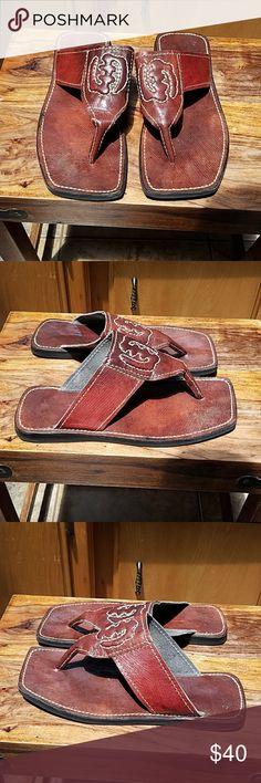 Custom African Leather Thong Sandals Custom African Leather Thong Sandals in excellent condition Shoes Sandals & Flip-Flops