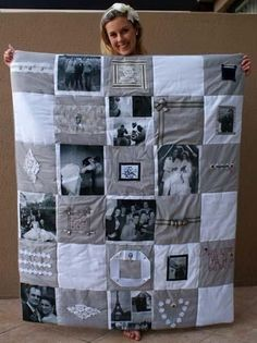 DIY Photo Quilt... a lot easier than you think it would be.. PIN! Anniversary…