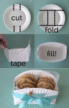 Great and inexpensive way to display treats at a party!