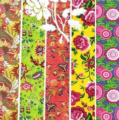 Pretty. I want to use brightly pattered oilcloth to make a tablecloth.