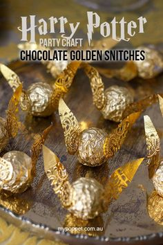 Harry Potter Party Craft – Chocolate Golden Snitches