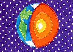 La main planète terre monté art art/tissu de par SheffieldHandmade