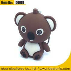 ABS Plastic Koala Bear Torch Keyring with Sound | Doer Electronic the Animals Novelty Gadgets Supplier from China, Welcome to the World of Animals Fun.
