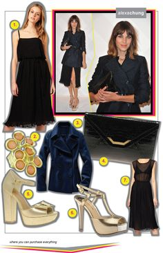 New Blog Post: #AlexaChung in metallic #platforms and a pleated midi and how to get her look: http://www.richesforrags.com/2011/12/metal-pleats-alexa-chung-looks.html?spref=tw #style #fashion