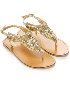 The Styling Up stylists recommend: Accessorize: Gem Flower T-Bar Sandal Gold