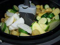Les Gourmandes Astucieuses (Cuisine végétarienne): Poêlée de Courgettes et Pommes de terre à l'Actifry Quiche, Zucchini, Fries, Beef, Vegan, Vegetables, Food, Robots, Chicken