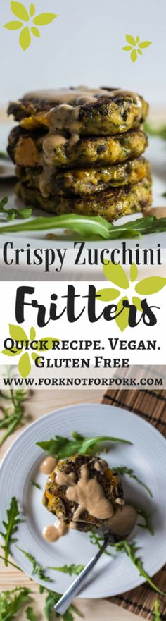 These vegan crispy zucchini fritters are unbelievably easy to make, high in vitamins, but low in calories, the perfect solution for emergency meal and a good way to sneak in some veggies!
