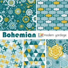 Nicole Ketchum Bohemian Fabric Collection for Modern Yardage