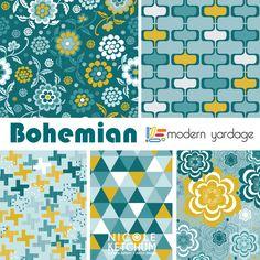 Nicole Ketchum Bohemian Fabric Collection for Modern Yardage