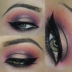 Spring/Summer smokey eyes @gosiamakeup1 //DEETS// gold shadow Mary Lou highligter black eyeliner @morphebrushes pink shadow @melkiorprofessional Purple shadow @bhcosmetics Smoky palette brow - @freedom_makeup ASH pomade --:> Share your looks to be featured #GlamExpress or http://ift.tt/1LKibRA ( Upload on site to win cool stuff )   #universodamaquiagem_oficial #vegas_nay #wakeupandmakeup #girls #bblogger #anastasiabeverlyhills #auroramakeup #bhcosmetics #freedommakeup #stunning #amazing…