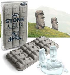 Stone Cold Moai Statue Ice Cube Tray