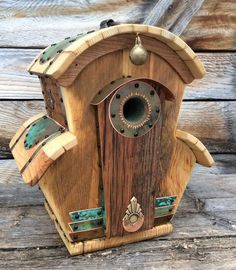 The Villa Birdhouse is made from authentic reclaimed barnwood obtained near my home in Western Wyoming in the Valley of Grand Teton National