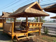 Thai teak wood pavilion
