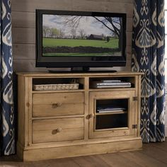 Solid Pine Entertainment Console - Grand Home Furnishings | 0212127