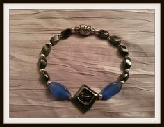Midnight Collection Blue Bracelet  7 Elastic by SerenityDesignsNY, $12.00