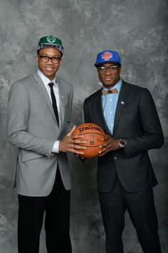 separation shoes 907e3 1a894 Giannis and Thanasis Antetokounmpo pose together in their stylish suits  after Thanasis was drafted 51st overall