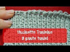 Uncinetto Tunisino - Punto tunisi introduzione e avvio alternativo - YouTube