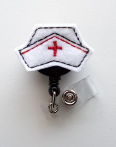 Your place to buy and sell all things handmade Nurse Badge, Nurse Cap, Id Badge Holders, Badge Reel, Cute Nurse, Farewell Gifts, Name Badges, Felt Applique, Nurse Life