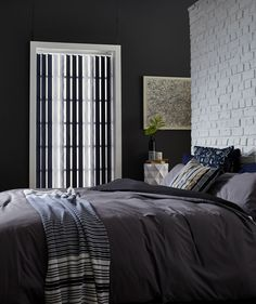 Your bedroom is a place where you to come unwind and relax after a long day and the atmosphere of your bedroom should reflect this. Creating a serene and peaceful haven in your bedroom can be easily achieved with small touches such as installing blinds for bedrooms by Blinds Boutique. #bedroomblinds #bespokeblinds #interiordesign