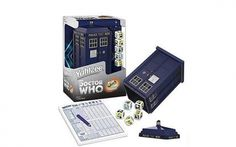 Would you buy this Yahtzee set just to roll your D dice in a plastic TARDIS, or would that be too much? (Yes, you would, no, it would not.)