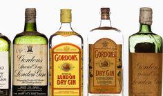 Gordons gin bottles