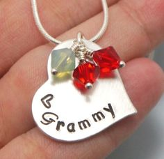 Personalized Grandmothers Necklace Valentines Gift by MadiesCharms