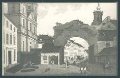Szczątki Bramy Nowomiejskiej, akwarela z ok. 1850 r., źródło: Biblioteka Narodowa