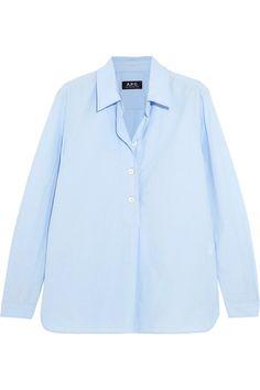 A.P.C. Atelier de Production et de Création - Liquette Garçon Cotton-poplin Shirt - Sky blue