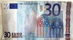 Police warn about fake 30 Euro notes