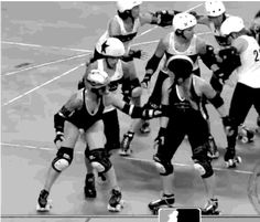 """""""Killing fun in roller derby, one gif at a time. If you play roller derby,. Roller Derby Drills, Roller Derby Skates, Quad Skates, Roller Skating, Rose City Rollers, Derby Time, Go To The Cinema, Girls Rules, Big Time"""