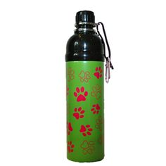 Good Life Gear Pet Water Bottle Green Paws (750ml)